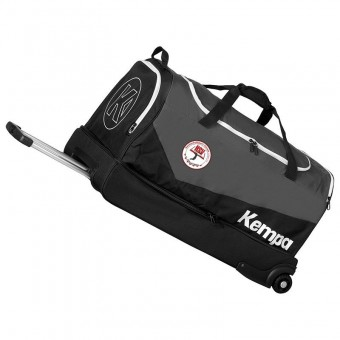 KEMPA HSV Cottbus Volley Trolley-Tasche Roll-Trolley schwarz | M = 33 x 31 x 59 cm, 60L Volumen