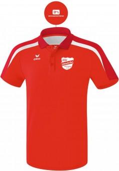 erima ESV Lok RAW Liga 2.0 Poloshirt Unisex rot-dunkelrot-weiß | M