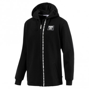 Puma Rebel Block FZ Hoody FL Cotton Kapuzen Zipper black | S