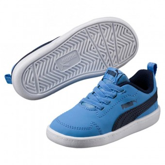 Puma Courtflex Inf Sneaker Training Kinder Little Boy Blue-Peacoat | 20