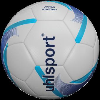 UHLSPORT NITRO SYNERGY FUßBALL TRAININGSBALL weiß-blau-cyan | 3