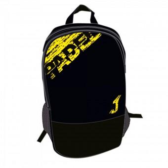 Joma Padel Backpack Rucksack schwarz-neongelb | 50 x 35 x 20 cm
