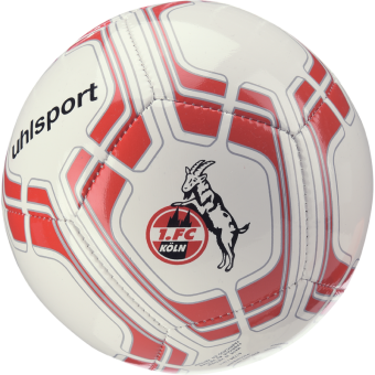 Uhlsport Miniball 1. FC Köln Mini Fußball weiß-rot | Mini