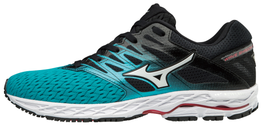 Mizuno Wave Shadow 2 Women Laufschuhe Running Peacock Blue-Silver-Teaberry | 38,5