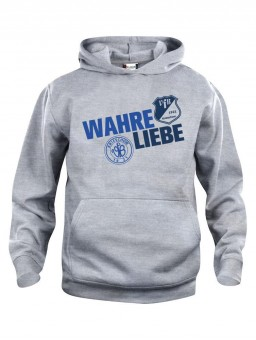 VfB 1921 Krieschow Kinder Hoody Wahre Liebe Kapuzensweater grau meliert | 90/100
