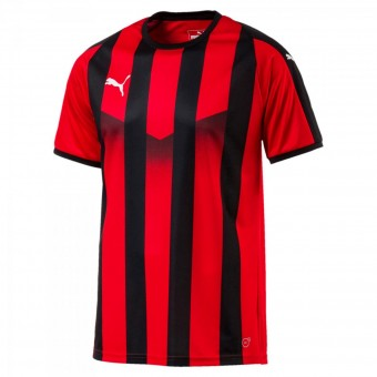 Puma LIGA Jersey Striped Trikot kurzarm Puma Red-Puma Black | S
