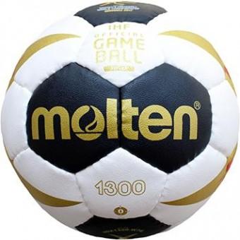 Molten H0X1300-W7G Handball Methodikball weiß-schwarz-gold-rot   0