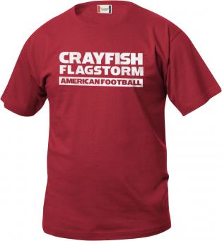 Cottbus Crayfish Fanshirt Flagstorm Kinder T-Shirt rot | 90/100