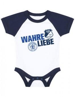 VfB 1921 Krieschow Baby Bodysuit Wahre Liebe Babybody White-Navy | 0/3 Monate