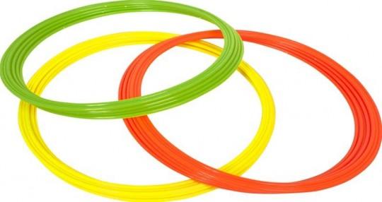 Select Koordinationsringe gelb-grün-orange | 12er Set (Ø 60 cm)