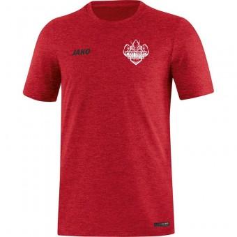 JAKO Cottbus eSports T-Shirt Premium Basics rot meliert | S