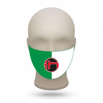 Mund- und Nasenmasken mit Vereinslogo grün-weiß | 500 Stk