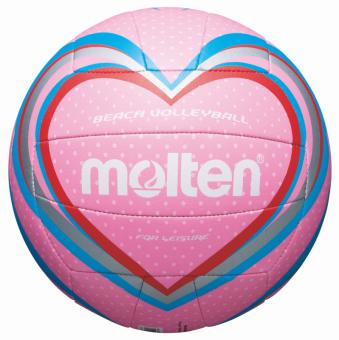Molten V5B1501-P Beachvolleyball Freizeit-Trainingsball pink-blau-rot   5