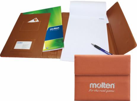 Molten XA0130 Schreibmappe Leder orange | One Size