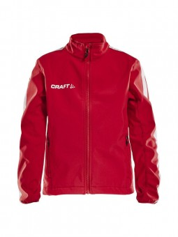CRAFT PRO CONTROL SOFTSHELL JACKET JR SOFTSHELLJACKE KINDER bright red | 158/164