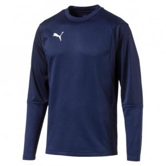 PUMA LIGA Training Sweat Pullover Sweatshirt Peacoat-Puma White   S