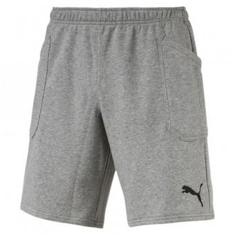 PUMA LIGA Casual Shorts Sweatshorts Medium Gray Heather-Puma Black | S