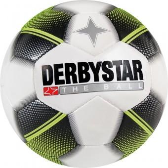 Derbystar Miniball Fußball Freizeitball weiß-schwarz-gelb | 47 cm