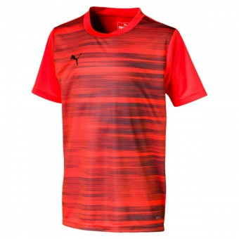 Puma ftblNXT Core Graphic Kinder Fußball T-Shirt Nrgy Red-Puma Black | 116