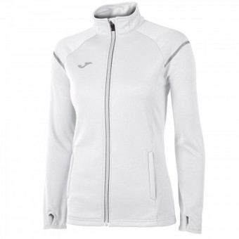 JOMA Zip Top Race Zip Sweater Damen weiß | S