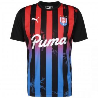 Puma Acid Bleach Herren Fußballtrikot Puma Black-Poppy Red | M