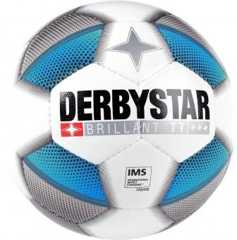 DERBYSTAR BRILLANT TT DB FUSSBALL TRAININGSBALL Weiss-Blau-Schwarz | 5