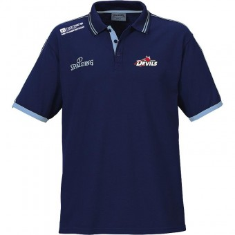 White Devils Polo Shirt Poloshirt marine-skyblau   M