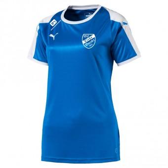 PUMA SV Eiche Branitz LIGA Jersey Women Trikot Damen Electric Blue Lemonade-White | S