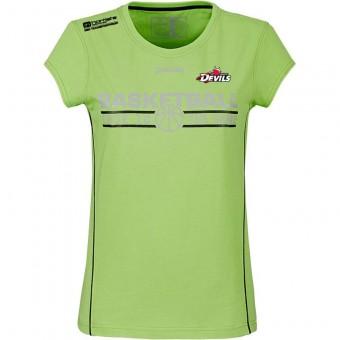 White Devils Team T-Shirt 4her Damenshirt flash grün-schwarz | XS