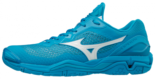 Mizuno Wave Stealth V Indoor Hallenschuhe Blue Jewel-White-Hawaiian Ocean | 42
