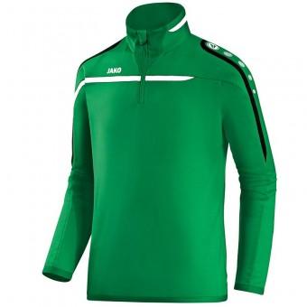 JAKO Ziptop Performance Pullover Zip Sweater sportgrün-weiß-schwarz | 3XL