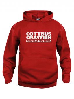 Cottbus Crayfish Fanhoody Kinder Kapuzensweater rot | 90/100