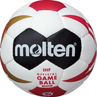 MOLTEN H0X1300-M9Z Handball Knautschi Methodikball Replika Handball WM 2019 weiß/schwarz/rot/gold   0