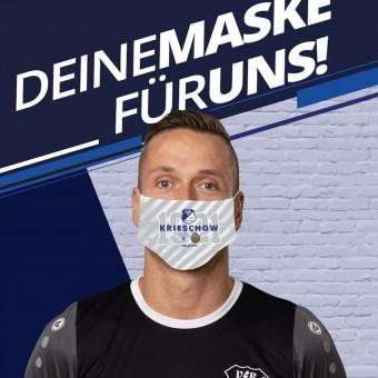 VfB 1921 Krieschow Mund- und Nasenmaske Gesichtsmaske mehrfarbig | 21 x 17 cm