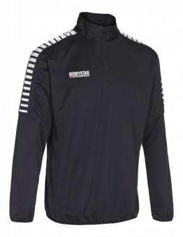 Derbystar Hyper Trainingstop Pullover Zip Sweater schwarz-weiß | 152