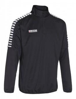 Derbystar Hyper Trainingstop Pullover Zip Sweater schwarz-weiß | 152