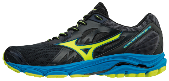 Mizuno Wave Inspire 14 Laufschuhe Running Ombre Blue-Safety Yellow-Diva Blue | 42