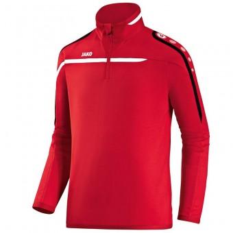 JAKO Ziptop Performance Pullover Zip Sweater rot-weiß-schwarz | L