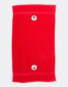 HSV Cottbus Volley Logo Badetuch Duschtuch 70 x 130 cm rot | 70 x 130 cm