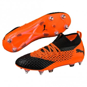 Puma FUTURE 2.2 NETFIT Mx SG Fußballschuhe MX/SG Puma Black-Shocking Orange | 42