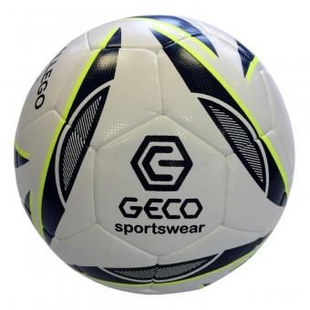 GECO Gallego Fußball Spielball Trainingsball weiß-schwarz-neongelb | 5