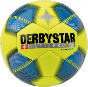 Derbystar Soft Pro Light Futsal Fußball Futsalball gelb-blau-schwarz | 4