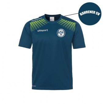 Uhlsport Kahrener SV Goal Polyester Training T-Shirt petrol-flash grün | M