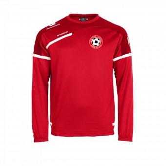 STANNO FSV Rot-Weiß Luckau Prestige Top Rundhals Trainingssweater rot-weiß   116