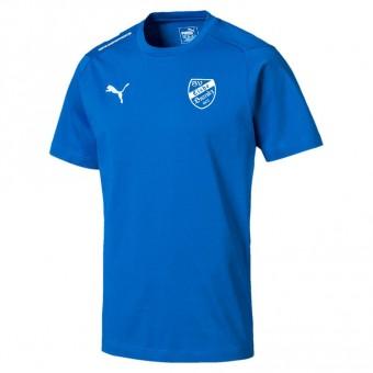 PUMA SV Eiche Branitz LIGA Casuals Tee Präsentationsshirt Electric Blue Lemonade-Puma White | M