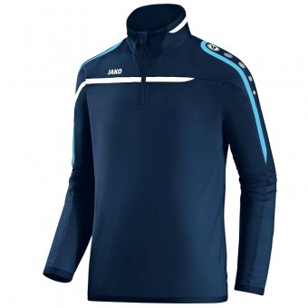 JAKO Ziptop Performance Pullover Zip Sweater marine-weiß-aqua | 3XL