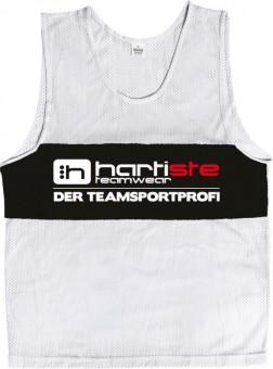 Derbystar 10er Set Trainingsleibchen Markierungshemden Hartiste weiß-schwarz | 116-140