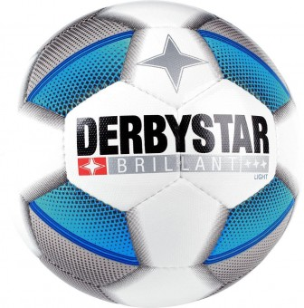 DERBYSTAR BRILLANT LIGHT FUSSBALL JUGENDBALL weiß-blau-schwarz | 5