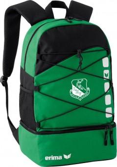 erima LHV Hoyerswerda Club 5 Rucksack m. Bodenfach smaragd-schwarz | 30L x 18B x 45H