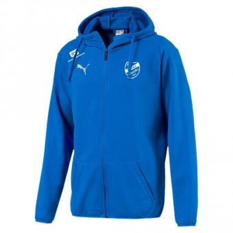 PUMA SV Eiche Branitz LIGA Casuals Hoody Jacket Kapuzenjacke Electric Blue Lemonade-Puma White | S